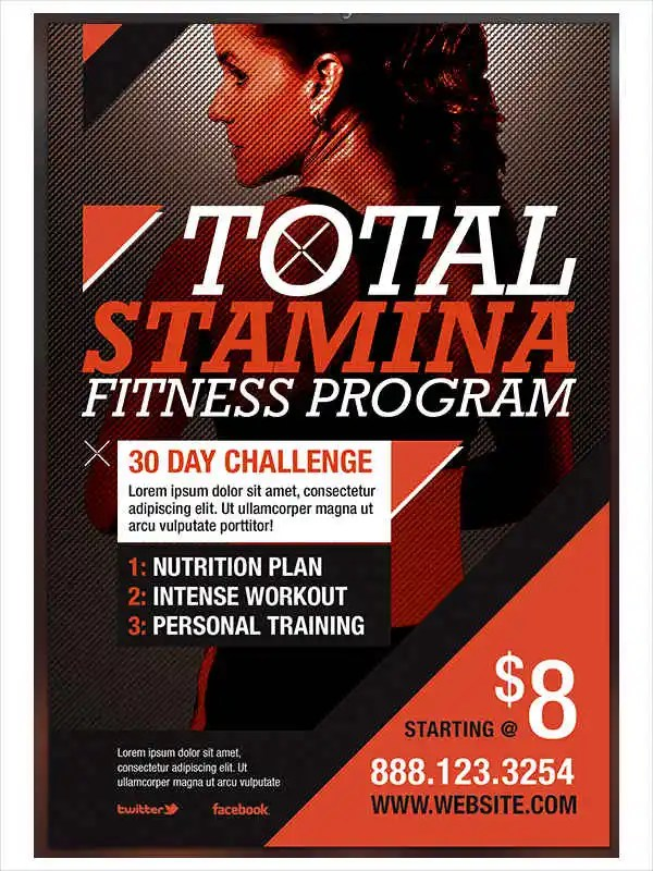 Fitness Flyer Examples Free  Premium Templates