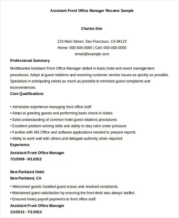 Office Manager Resume Examples office manager resume sample - office manager resume examples