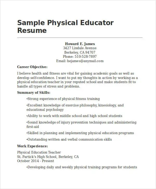 15+ Best Education Resume Templates - PDF, DOC Free  Premium