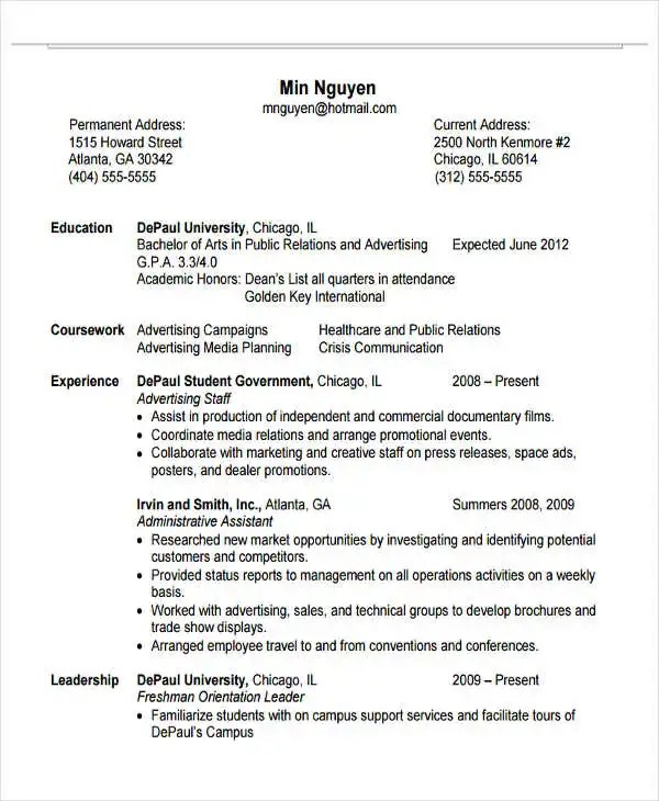 22+ Education Resume Templates - PDF, DOC Free  Premium Templates - resume current education