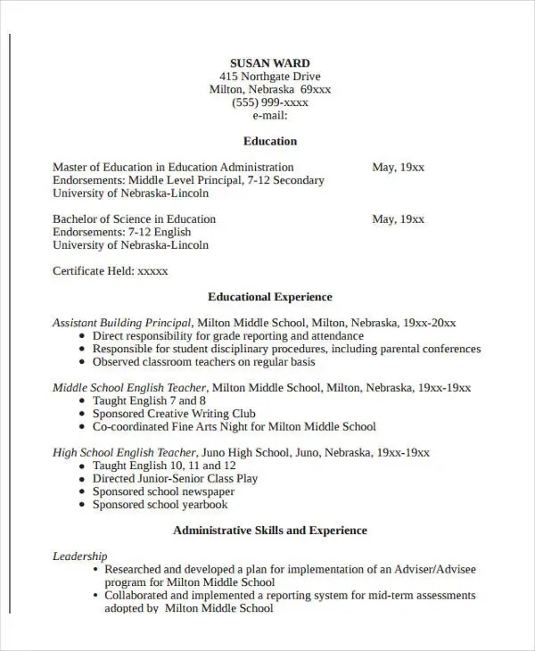22+ Education Resume Templates - PDF, DOC Free  Premium Templates - Resume Format For Education