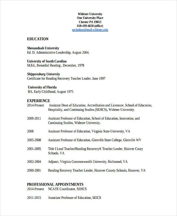 special education resume letter