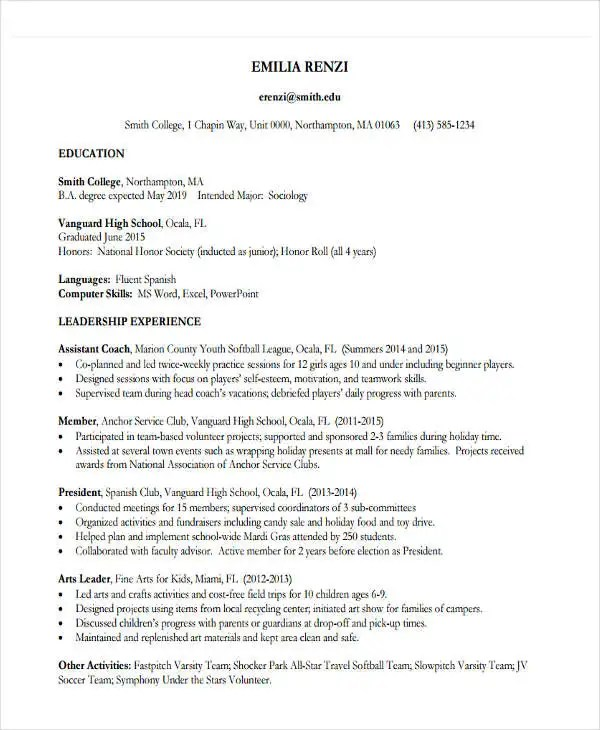 22+ Education Resume Templates - PDF, DOC Free  Premium Templates - education on a resume example