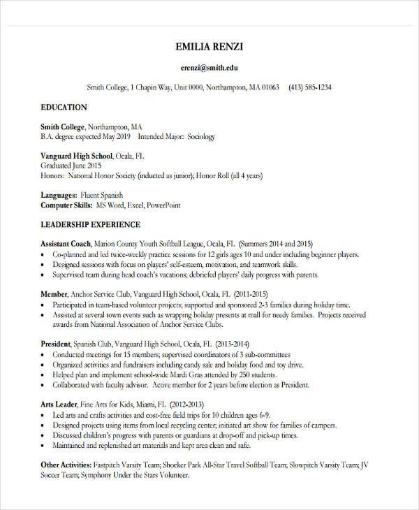 22+ Education Resume Templates - PDF, DOC Free  Premium Templates - education on a resume examples