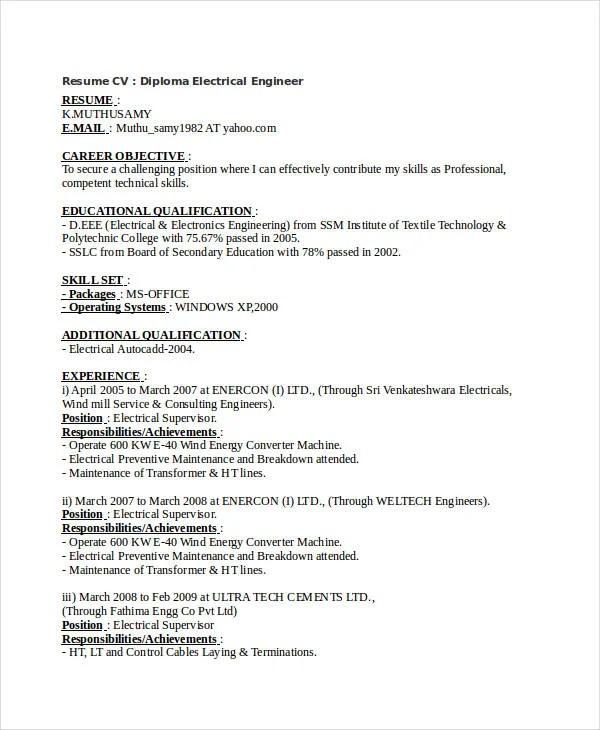 Free Engineering Resume Templates - 49+ Free Word, PDF Documents
