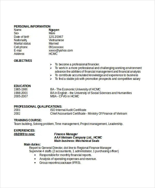 professional manager resume 51 free word pdf documents 52 resume doc