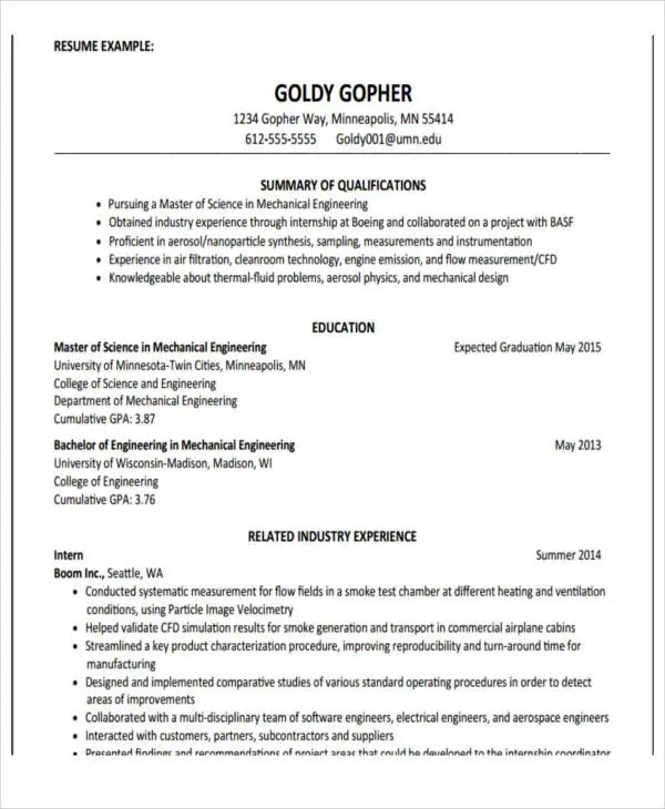 sample of education resume - Onwebioinnovate - Educational Resume Examples