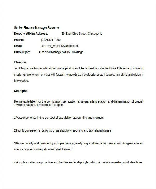 Auto Finance Manager Resume - Fiveoutsiders