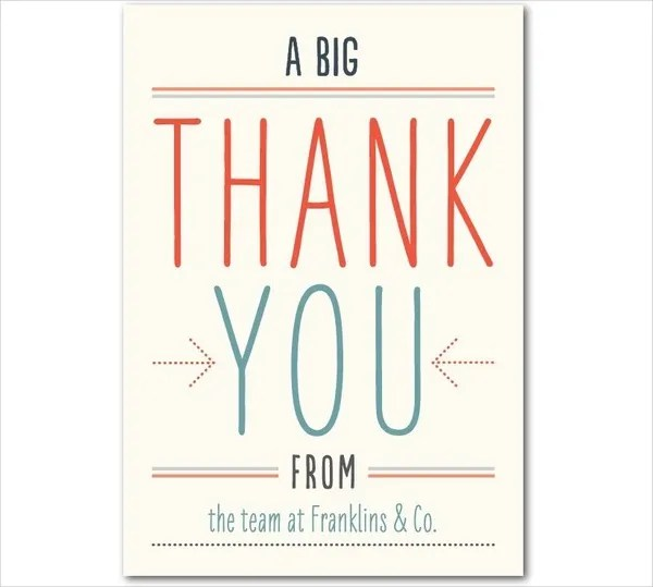 Thank-You Card Templates - Free Sample, Example, Format Free