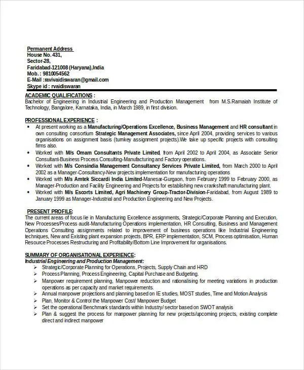 49+ Professional Manager Resumes - PDF, DOC Free  Premium Templates - audit operation manager resume