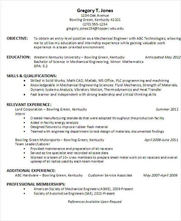 25+ Best Engineering Resume Templates - PDF, DOC Free  Premium