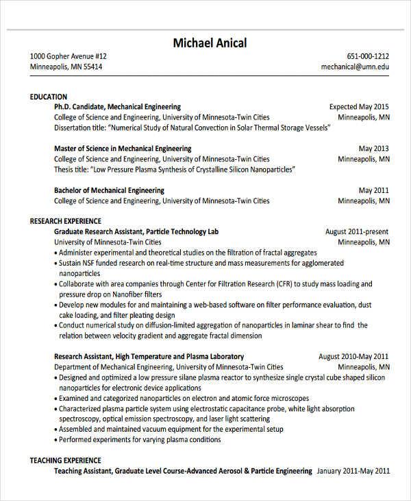 37+ Engineering Resume Examples Free  Premium Templates