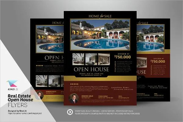 open house flyers templates