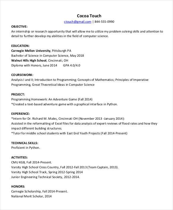 resume for english teacher fresher