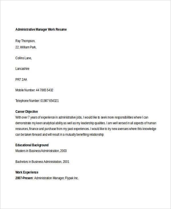 25+ Generic Work Resume - PDF, DOC Free  Premium Templates - work resumes