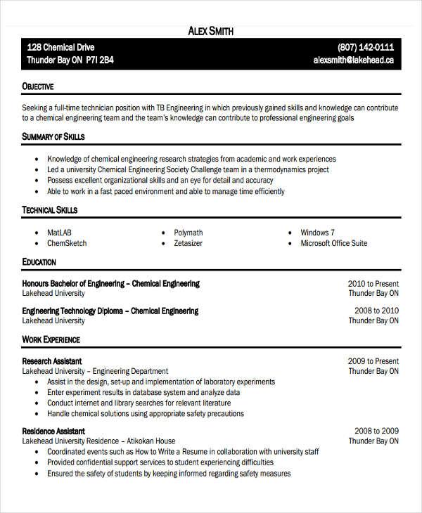 resume types pdf