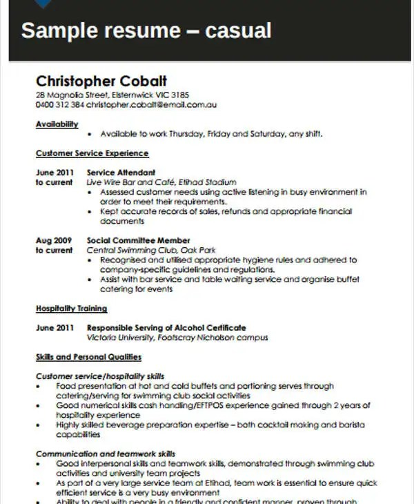 cover letter human services domov sample fast food resume entry