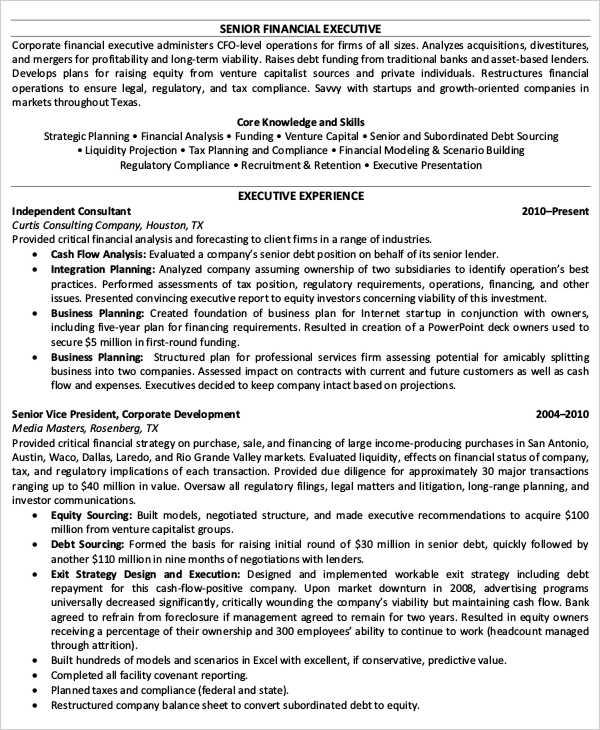 22+ Best Finance Resume Templates - PDF, DOC Free  Premium Templates