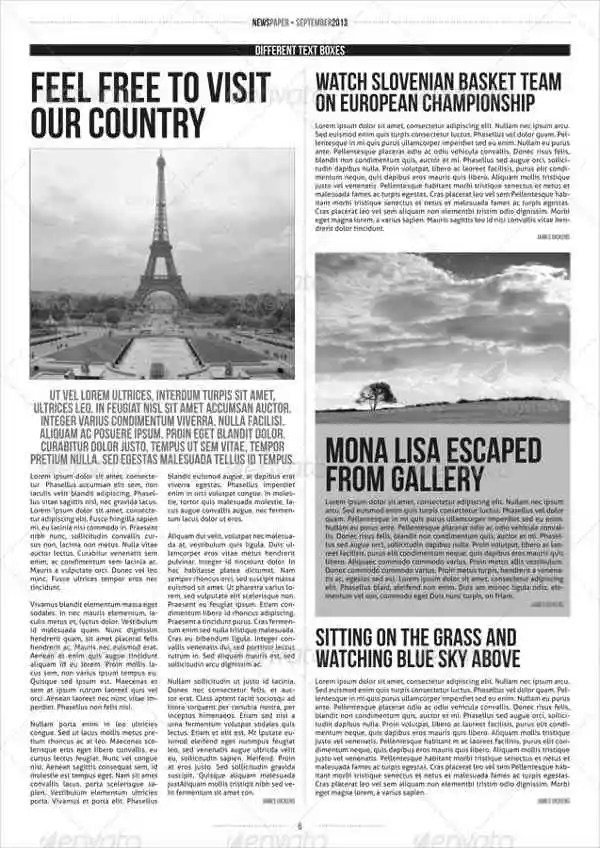 free newspaper article template printable - Jolivibramusic - printable newspaper templates