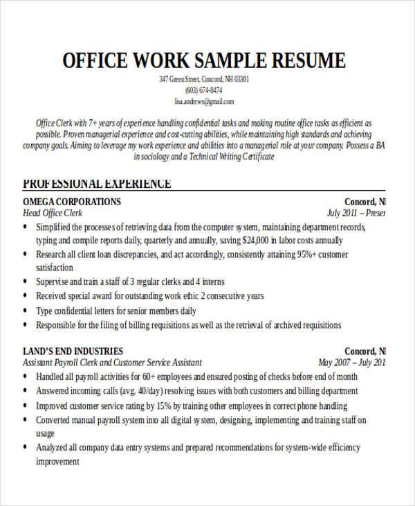 volunteer work on your resume