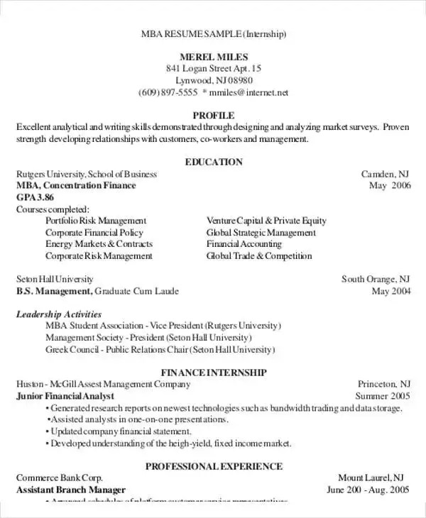 25+ Finance Resumes in PDF Free  Premium Templates - financial resume example