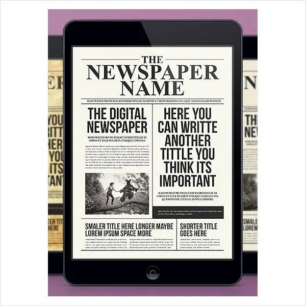 printable newspaper article template