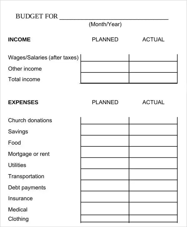 Biweekly Budget Template - 6+ Free Word, PDF Documents Download