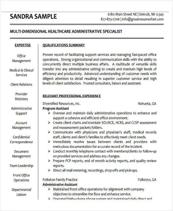 Health Administration Resume Examples Ideas Health Administration Resume