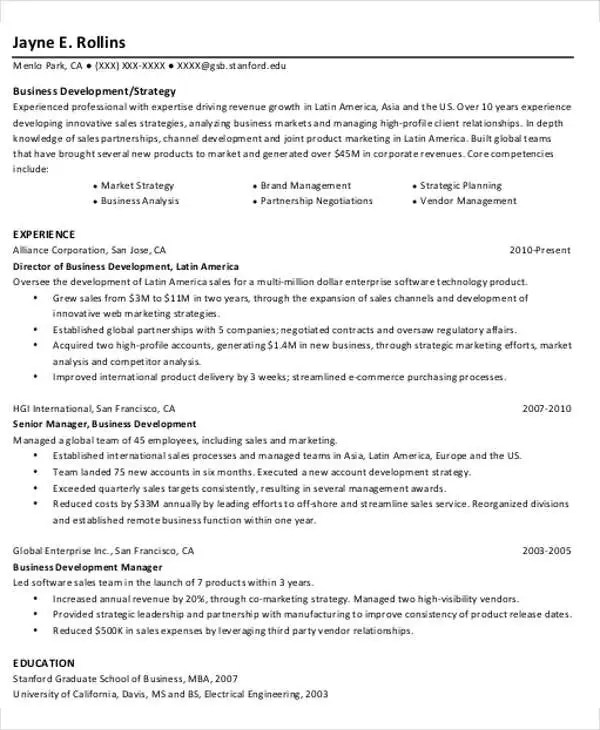 18+ Simple Business Resume Templates Free  Premium Templates - International Business Resume