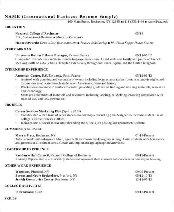 Top Result 60 New International Business Resume Sample Gallery 2017 - international business resume sample