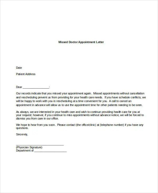 44+ Appointment Letter Template Examples Free  Premium Templates - sample appointment card template