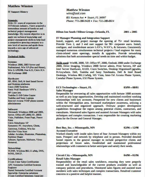 20+ IT Resume Templates in PDF Free  Premium Templates - printing company general manager resume