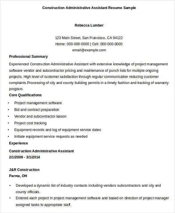 Chief Financial Officer Resume Sample Best Administrative Resume 17 Free Word Pdf Documents