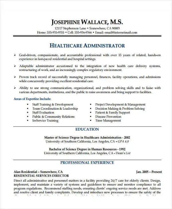 career objective resume healthcare