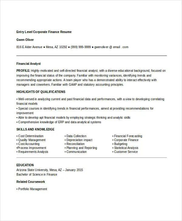 entry level accounting resume objective samples