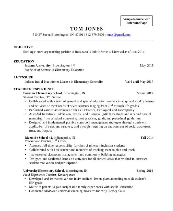 28+ Teacher Resume Templates Download Free  Premium Templates - inclusion assistant sample resume