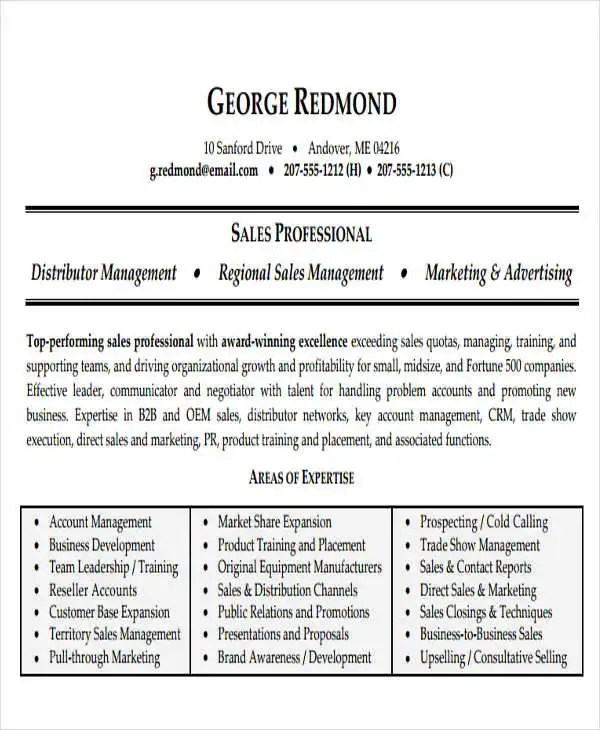 50+ Business Resume Templates - PDF, DOC Free  Premium Templates