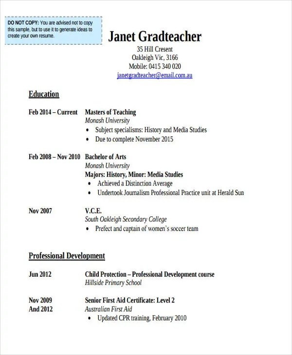 20+ Education Resume Templates in PDF Free  Premium Templates