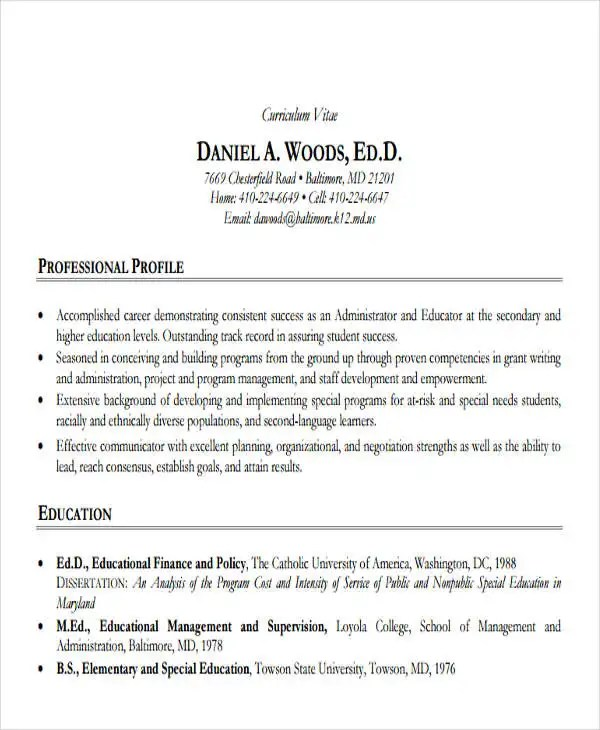 Resume Format For Job In School Sample High School Resume The Balance 20 Education Resume In Pdf Free And Premium Templates
