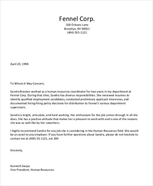 Personal letter of recommendation template nfgaccountability – Free Recommendation Letter Template