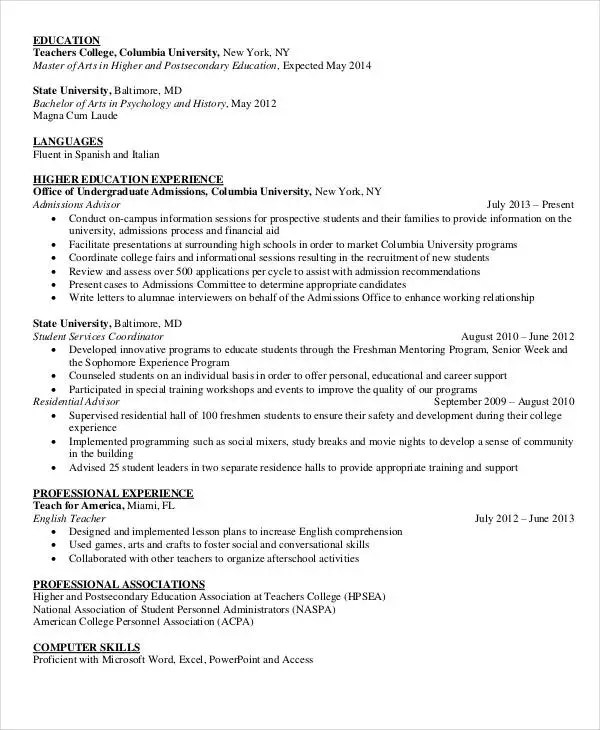 education for resumes - Goalgoodwinmetals
