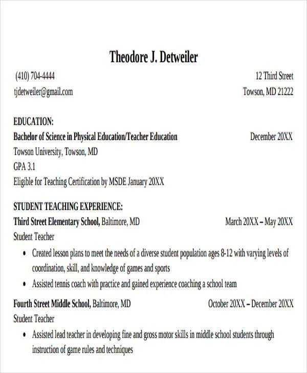 teacher cv