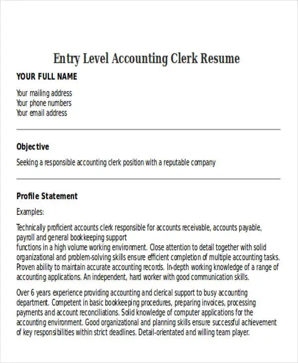 accounting clerk resume free best accounting clerk resume example livecareer 21 accountant resume templates download free