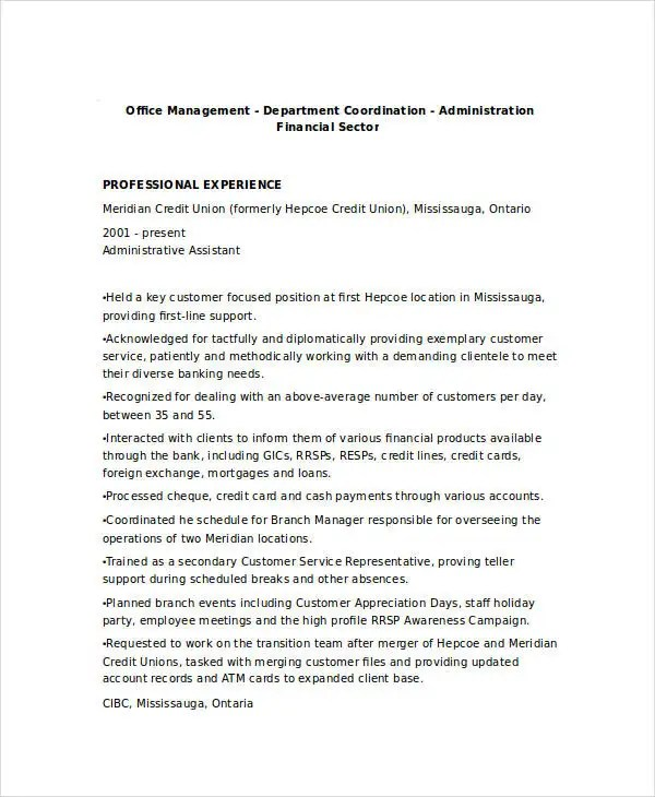 17+ Finance Resume Templates - PDF, DOC Free  Premium Templates - financial assistant resume