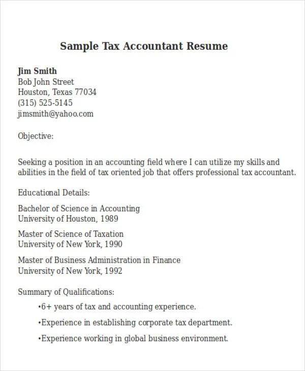 24+ Accountant Resume Templates Download Free  Premium Templates