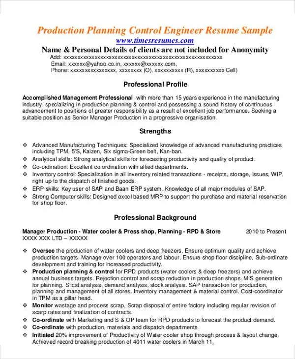 54 Manager Resumes in PDF Free  Premium Templates - fashion production manager sample resume