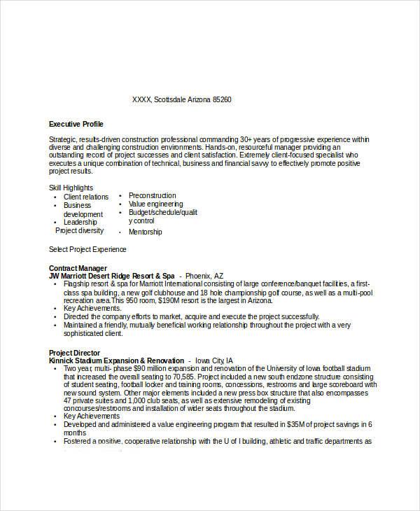 sample resume for hiring manager