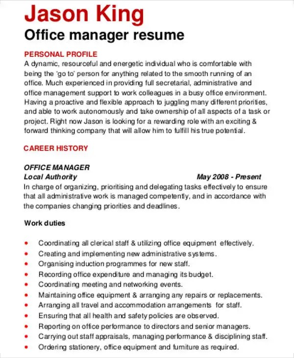 Office Manager Resume Office Manager Resume Fields Related To - front office manager resume