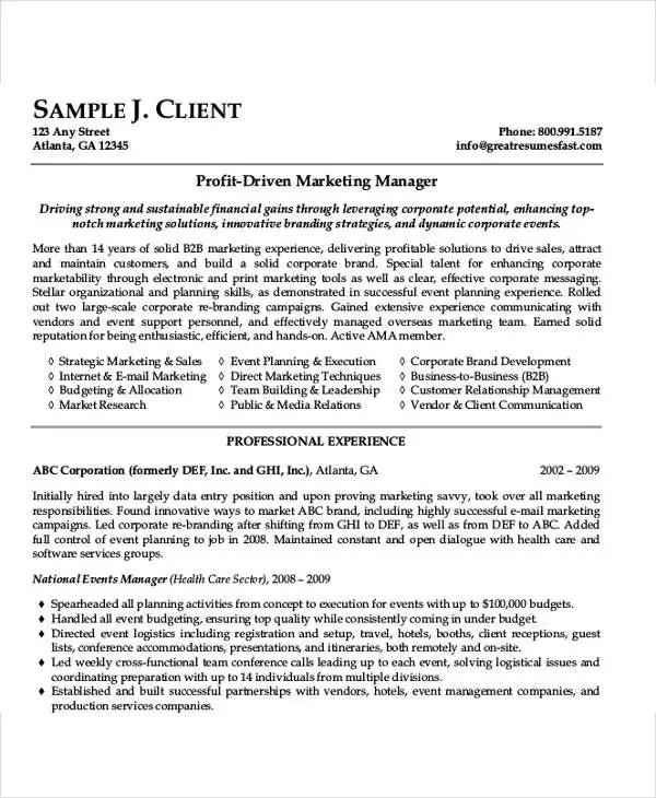 54 Manager Resumes in PDF Free  Premium Templates - media relation manager resume