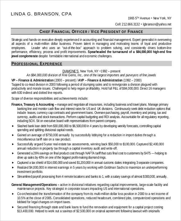 23+ Finance Resume Templates - PDF, DOC Free  Premium Templates - financial resume template